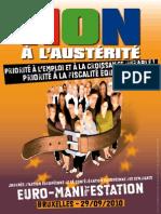 Affiche Euro-Manifestation du 29 septembre 2010