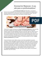 Curso Profissional de Manicure