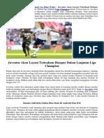 Juventus Akan Layani Tottenham Hotspur Dalam Lanjutan Liga Champion