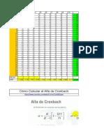 Cómo Calcular El Alfa de Cronbach