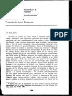 Huyssen, A., Discurso Artístico y Postmodernidad