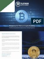 Platinum Crypto Prospectus | Comprehensive Cryptocurrency Training Programme