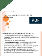 Est Imac Ion Del Proyecto de Software
