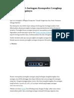 10 Perangkat Jaringan Komputer Lengkap Beserta Fungsinya