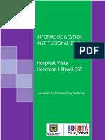 Informe Gestion Institucional 2013
