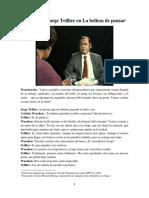 Entrevista a Jorge Teillier en La Belleza de Pensar