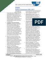Bill Summary_NMC Bill, 2017