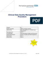 Clinical Data Quality Procedure