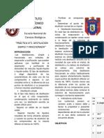 Instituto Politécnico Naciona1 Practica 2 Quimica 1 Listo