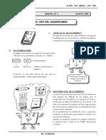 II BIM-4to. Año - RV - Guía 1 - El Uso Del Diccionario