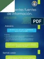 Aparentes Fuentes de Información.