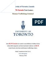 University of Toronto Human Trafficking Criminal