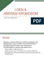 Mutasi Gen Aberasi Kromosom