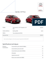 Yaris 5 Portes 1.5 VVT-i Hybride E-CVT Pure