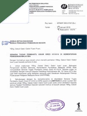Tugas Pembantu Awam H11 Majlis Daerah