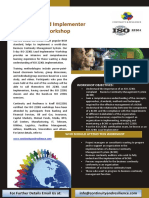 5 Days ISO 22301 Lead Implementer Workshop
