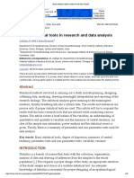 Basic Statistical Tools in Research and Data Analysis