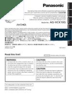 AG-HCK10 Operating Manual