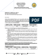 Letter to SDS for SHS Adding Course