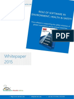 Role of Software in Environment Health and safety