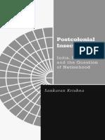 (Borderlines) Sankaran Krishna-Postcolonial Insecurities_ India, Sri Lanka, And the Question of Nationhood (Borderlines Series)-Univ of Minnesota Press (1999)