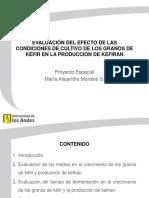 Evaluación de la influencia del medio de cultivo de los granos de kefir