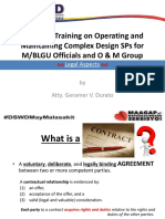 O & M Training_Legal Aspects