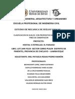 INFORME - CLASIFICACION DE SUELOS (PROYECTO)