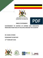 Press Statement Joint NDA NMS JMS MoH - DRUGS IN UGANDA