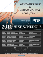Sanctuary Forest 2010 Hike Schedule