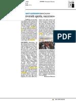 Università aperta, un successo - Il Resto del Carlino del 9 febbraio 2018