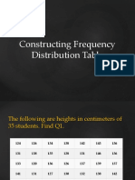 Constructing Frequency Distribution