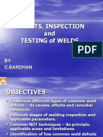 Defects, Inspection and Testing of Welds
