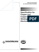 Especificação de Eletrodos de Solda de Cobre e Suas Ligas