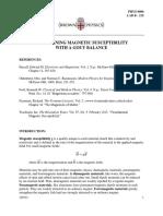 Gouy Magnetic Susceptibility Balance