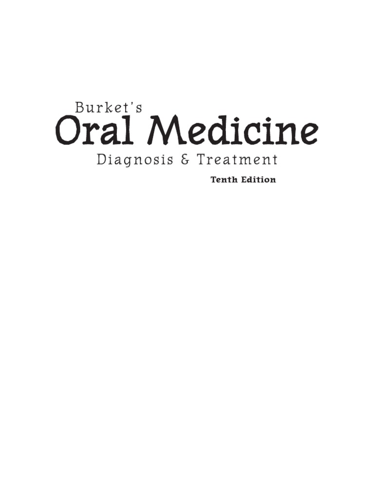 Burkets oral medicine diagnosis and treatmentpdf fandeluxe Image collections