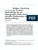 Bowie, Fiona - BUIDING BRIDGES DISSOLVING BOUNDARIES, ToWARD a METHODOLOGY FOT the Ethnographil Study of the Afterlife, Mediumship and Spiritual Beings, Journal of the American Academy of Religion, 81 No 3 Sep 2013, p 698