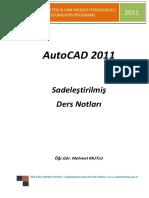 AutoCAD 2011 Sadeleştirilmiş Ders Notları1