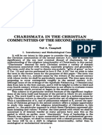 Campbell, Ted a. - Charisma in the Christian Communities of the Second Century, Wesleyan Theological Journal, 17 No 2 Fall 1982,