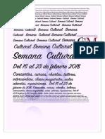 Semana Cultural 2018