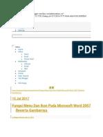 Fungsi Menu Dan Ikon Pada Microsoft Word 2007 Beserta Gambarnya - Sinau Komputer