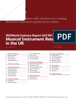 G47 591 Musical Instrument Retailers in the UK Industry