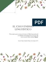 El Chovinismo Lingüístico