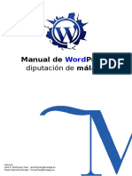 Manual de Wordpress Diputacion de Malaga