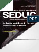 Jl024-17 - Seduc - Mt - Prof de Educ b Sica - Matem Tica 144 Pgs Capa