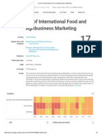 Journal of International Food and Agribusiness Marketing Review