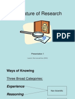 Nature of Research