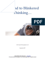 An End to Blinkered Thinking