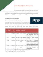 Metodologi Analisis Sarana Wilayah Dalam Perencanaan Pembangunan