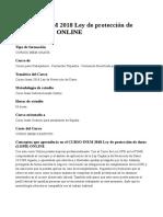 CURSO INEM 2018 Ley de Protección de Datos (LOPD) ONLINE 1